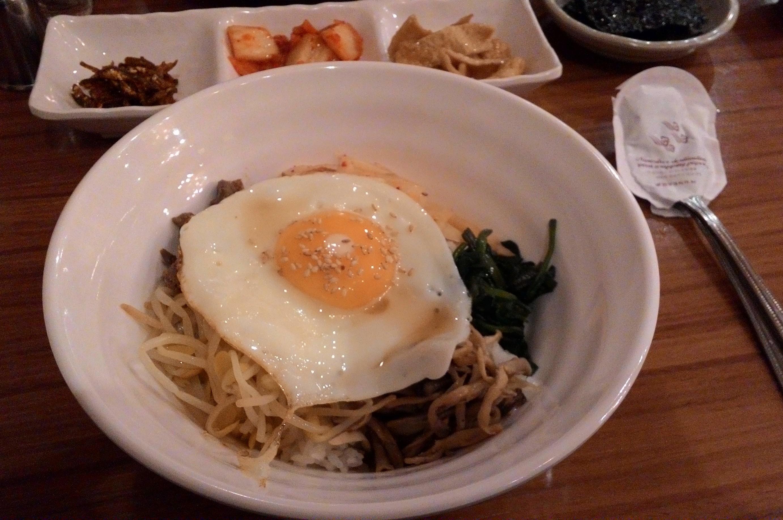 Jalan Ke Korea Part 6 N Seoul Tower Nami Island Dan Halal Saos Terlihat Telur Sudah Hancur Daging Sayuran Menyatu Nasi Telah Berubah Warna Menjadi Merah Sebagai Penanda Bibimbap